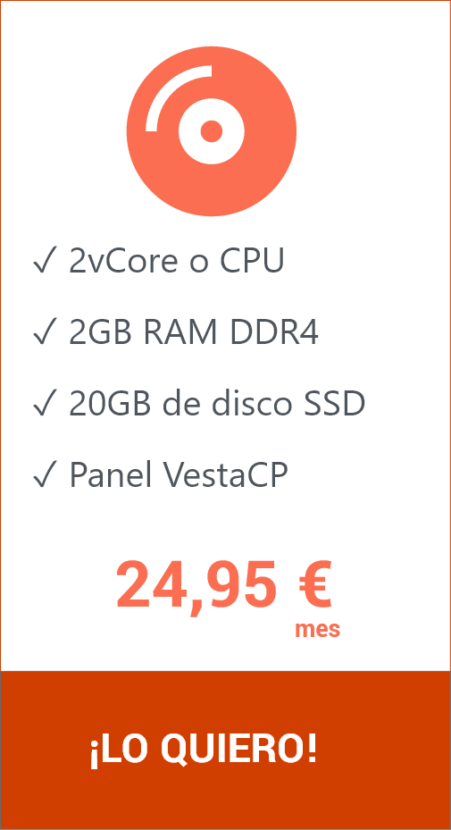 Hosting VPS 20GB VestaCP