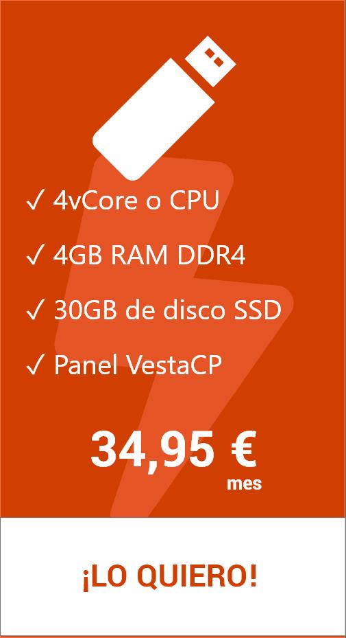 Hosting VPS 30 GB VestaCP