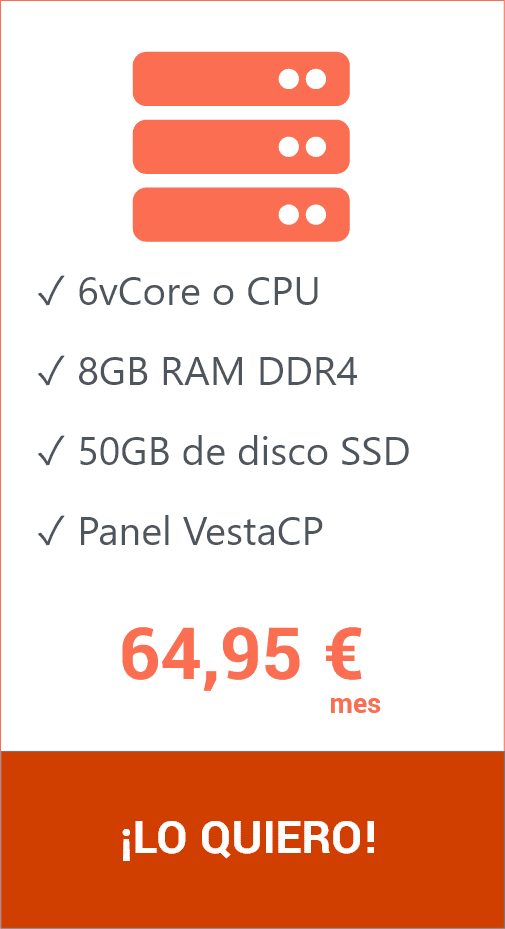 Hosting VPS 50 GB VestaCP