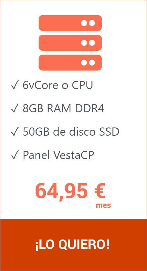 Hosting VPS 50 GB VestaCP