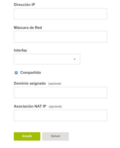 Configuración IP