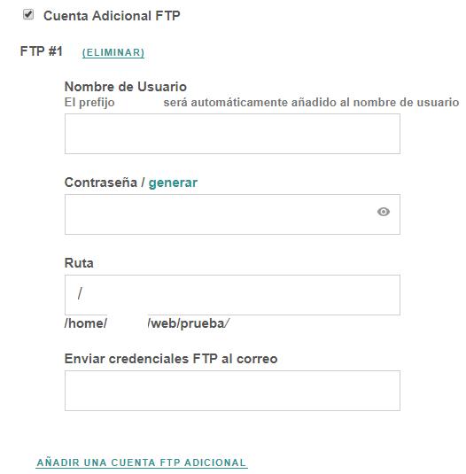 Configuración FTP